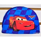 หมวกว่ายน้ำลาย-Car-Racing-สีน้ำเงิน--(5-ใบ/pack)