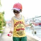 เสื้อกล้ามเด็ก-Football-สีเหลือง-(5-ตัว/-pack)