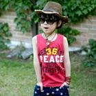 เสื้อกล้ามเด็ก-36-PEACE-สีแดง-(5-ตัว/-pack)