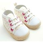 รองเท้าผ้าใบเด็ก-ลายดอกไม้-สีขาว