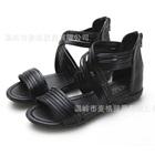 รองเท้าส้นเตี้ยไขว้หน้า-สีดำ-(6-คู่/แพ็ค)