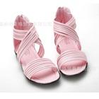 รองเท้าส้นเตี้ยไขว้หน้า-สีชมพู-(6-คู่/แพ็ค)