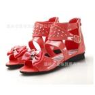 รองเท้าส้นเตี้ยโบว์ใหญ่-สีแดง-(6-คู่/แพ็ค)