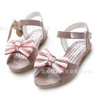 รองเท้าส้นเตี้ยโบว์ประดับเพชร-สีชมพู-(6-คู่/แพ็ค)