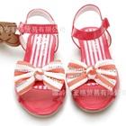 รองเท้าส้นเตี้ยโบว์ประดับเพชร-สีแดง-(6-คู่/แพ็ค)