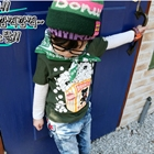 เสื้อยืดลาย-Pop-Corn-สีเขียว--(5size/pack)