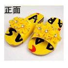 รองเท้าแตะดอกไม้ประดับเพชร-สีเหลือง-(5-คู่/แพ็ค)
