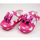 รองเท้าเด็กลายจุด-สีชมพูเข้ม-(5-คู่/แพ็ค)