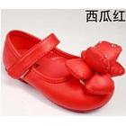 รองเท้าเด็กดอกไม้ใหญ่-สีแดง-(5-คู่/แพ็ค)