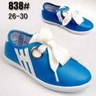 รองเท้าผ้าใบเด็กสปริงแฟชั่น-สีฟ้า--(5-คู่/แพ็ค)