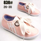 รองเท้าผ้าใบเด็กสปริงแฟชั่น-สีชมพูอ่อน(5-คู่/แพ็ค)