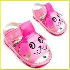 รองเท้าแตะเด็กหมาน้อย-สีชมพู-(5-คู่/แพ็ค)