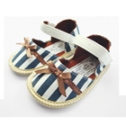 รองเท้าเด็ก-แฟชั่น-ลายทางสีน้ำเงิน