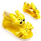 รองเท้าแตะการ์ตูนยิ้มได้-สีเหลือง-(5-คู่/แพ็ค)