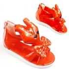 รองเท้าแตะการ์ตูนยิ้มได้-สีแดง-(5-คู่/แพ็ค)