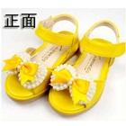 รองเท้าส้นเตี้ยโบว์ไข่มุก-สีเหลือง-(5-คู่/แพ็ค)