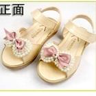 รองเท้าส้นเตี้ยโบว์ไข่มุก-สีชมพู-(5-คู่/แพ็ค)