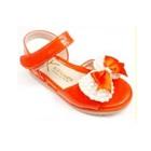 รองเท้าส้นเตี้ยโบว์ไข่มุก-สีส้ม-(5-คู่/แพ็ค)