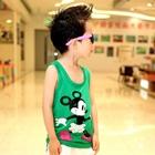 เสื้อกล้าม-Minnie-Mouse-สีเขียว-(5size/pack)