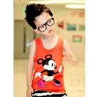 เสื้อกล้าม-Minnie-Mouse-สีส้ม-(5size/pack)