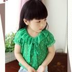 เสื้อแขนสั้นตุ๊กตาลายจุด-สีเขียว-(5size/pack)