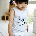 ชุดเสื้อกางเกงแมวเหมียว-สีเทา-(10-ตัว/pack)