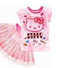 ชุดเสื้อกระโปรง-Hello-Kitty-สีชมพู-(5size/pack)