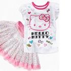 ชุดเสื้อกระโปรง-Hello-Kitty-สีขาว-(5size/pack)