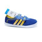 รองเท้าผ้าใบแถบข้าง-Adidas-สีน้ำเงิน-(7-คู่/แพ็ค)