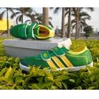 รองเท้าผ้าใบแถบข้าง-Adidas-สีเขียว-(7-คู่/แพ็ค)