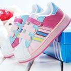 รองเท้าผ้าใบแถบข้าง-Adidas-สีชมพู-(7-คู่/แพ็ค)