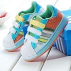 รองเท้าผ้าใบแถบข้าง-Adidas-สีส้ม-(7-คู่/แพ็ค)