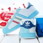 รองเท้าผ้าใบแถบข้าง-Adidas-สีขาว-(7-คู่/แพ็ค)