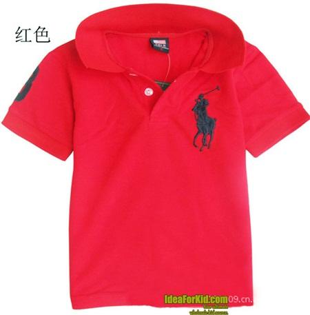 เสื้อโปโลแขนสั้น Polo สีแดง (5 ตัว/pack)