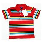 เสื้อโปโลแขนสั้นลายขวาง-สีแดง-(5-ตัว/pack)