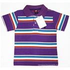 เสื้อโปโลแขนสั้นลายขวาง-สีม่วงขาว-(5-ตัว/pack)