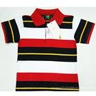 เสื้อโปโลแขนสั้นลายขวาง-สีดำขาวแดง-(5-ตัว/pack)