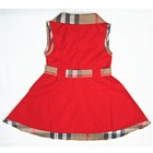 เดรสแขนกุด-Burberry-สีแดง-(5-ตัว/pack)