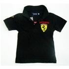 เสื้อโปโลแขนสั้น-Ferrari-สีดำ-(5-ตัว/pack)