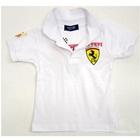 เสื้อโปโลแขนสั้น-Ferrari-สีขาว-(5-ตัว/pack)