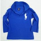 เสื้อโปโลแขนยาว-สีน้ำเงิน-(5-ตัว/pack)