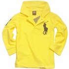 เสื้อโปโลแขนยาว-สีเหลือง-(5-ตัว/pack)