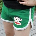 กางเกงขาสั้นลิงยิ้มแย้ม-สีเขียว-(5-ตัว/pack)