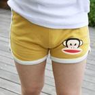กางเกงขาสั้นลิงยิ้มแย้ม-สีเหลือง-(5-ตัว/pack)