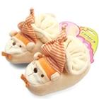 รองเท้าเด็ก-ตุ๊กตาหมีใส่หมวกปาร์ตี้-สีน้ำตาล