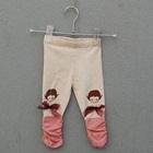กางเกงเลกกิ้งเด็กน้อย-สีครีม-(5-ตัว-/pack)