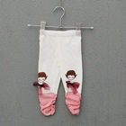 กางเกงเลกกิ้งเด็กน้อย-สีขาว-(5-ตัว-/pack)