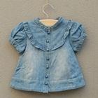 เสื้อยีนส์แขนสั้นตุ๊กตา-สีฟ้า-(5size/pack)