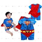 จั๊มสูทแขนสั้น-Superman-สีน้ำเงิน-(6-size/pack)