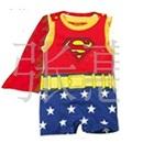 จั๊มสูทแขนกุด-Superman-สีแดงน้ำเงิน-(6-size/pack)